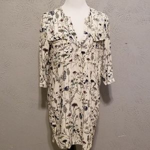 H&M Floral Button-Up Dress